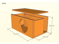 Professional measurements of a subwoofer box for your car