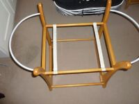 Moses basket sold with rocking stand and mattress sheets