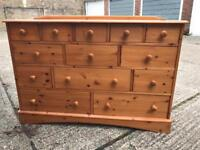 13 Drawers Chest Pine Wood