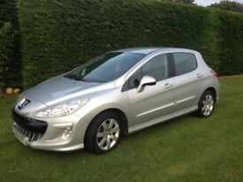 Peugeot 308 hdi diesel, 60+mpg, £30 tax, 5dr hatch