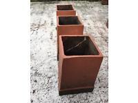 3 Chimney Pot Planters