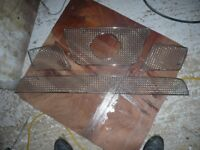 Nissan Navara D40 stainless steel mesh grill set in as new condition.