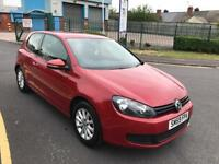 vw golf 2009 09 plate 1.6 tdi bluemotion 3 door hatchback 67k moted alloy wheels