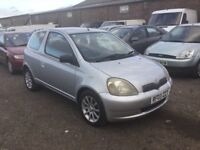 2003 TOYOTA YARIS 998cc ENGINE NICE CLEAN CAR LOW MILAGE LONG MOT DRIVES VERY NICE ANY TRIAL WELCOMR