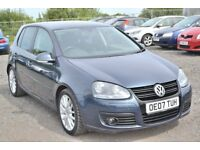 2007 VOLKSWAGEN GOLF 2.0 GT TDI SPORT 6 SPEED FSH BEAUTIFUL GRAPHITE BLUE. S LINE SPORTBACK