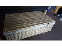 Wicker storage box