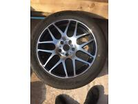New 18 Alloy Wheel (Chrome front Black rear) & New Tyre 255/45/18 103W