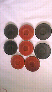 SET OF 8 Composite 1950s VINTAGE SHUFFLEBOARD PUCKS