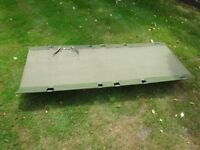 Army style camp bed