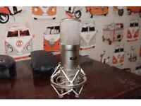 CAD GXL2200 Cardiod Condensor Microphone with Mic Shockmount + 48v Phantom power