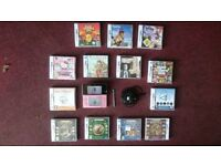 Nintendo 3DS (used, with some cosmetic wear and tear) + 16 Games