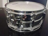 5.5 x 12 Inch Snare Drum Tama Steel Hand Hammered