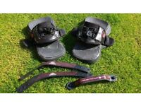 Liquid Force Comp Footpads, bindings/straps, heel straps and grab handle