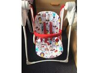 Graco Baby Delight Swing Circus Edition VGC BOXED RRP £45