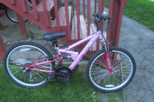 "Girls 24"", 18 speed mountion bike"