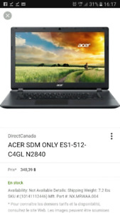 Portable acer ASPIRE E 15 start Es1-512-CAGL comme neuf