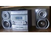 Sharp mini system 3 Cd changer stereo