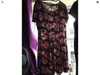 Ladies George floral tea dress size 18/20 used