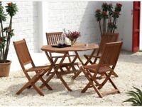 Brand New Eucalyptus Wood Garden Dining Set