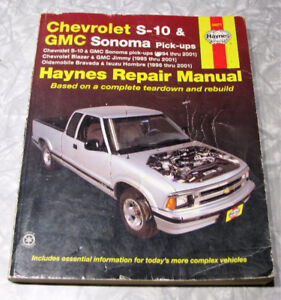Haynes Repair Manual : Chevrolet S-10 and GMC Sonoma Pick-Ups,(1