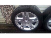 17 original mercedes alloy wheel