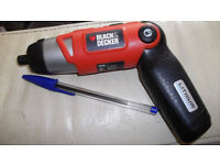 Black&Decker 3,6 volt small screwdriver (lithium battery)
