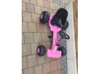 Girls pink go cart