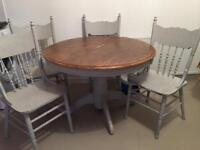 Upcycle project/ round dining table & chairs