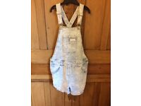 Girls Next Denim Short Dungarees (aged 12)