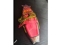 Mega Force knee board and tow rope