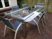Large Outdoor Patio Table + Chairs