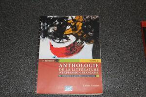 Anthologie de la littérature d'expression Française Tome 2