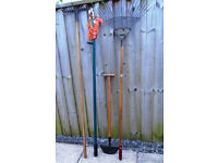 Garden Tools. 4 Different Used Garden Tools
