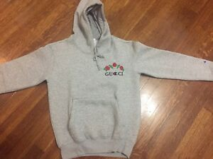 Gucci x Champion hoodie grey medium (fits small)