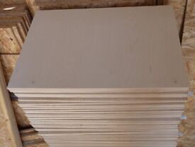 50 Pieces of NEW 15mm Russian Birch Plywood 25¼in x 16in (645mm x 405mm)