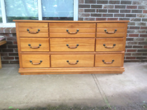 Pine Dresser With Nine Drawers