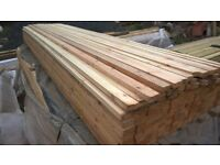 3 metres long of 2 x 1 planed timber / wood battens