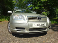 06 TOYOTA AVENSIS COLOUR COLLECTION 1.8,MOT AUG 018,2 OWNERS,PART HISTORY,VERY RELIABLE CAR