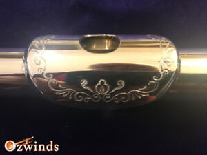 Sterling Silver Engraved Open Key Flute