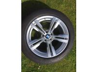BMW X5 alloy wheel and tyre 285-45-19 for sale only got one £250 call 07860431401