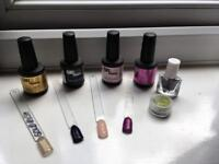 Gellux Nail Colours and Glitter