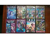 8 Monster High Movies DVDs
