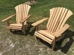 Hand crafted Muskoka chairs made with hard maple