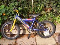 Boys 16'' Reflex mountain bike age 5-7approx