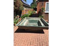 Large secondhand fibreglass pond for sale