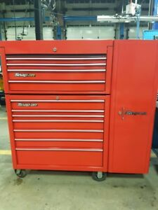 Red snap on tool box with locker