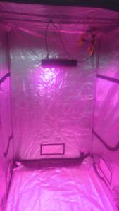 Serre interieur avec lampe LED