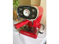 Silvercrest Espresso Coffee Machine - Red retro look