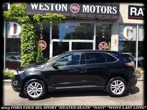2015 Ford Edge SEL *SPORT *HEATED SEATS *NAVI *WONT LAST LONG!!!