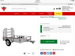 Aluminum 4x6 trailer with ramp